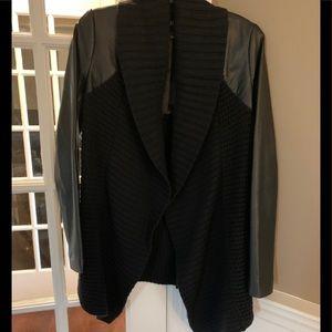 Line Drape Front Sweater Jacket